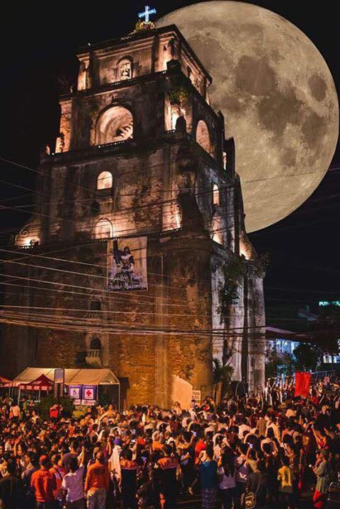 Supermoon at Sinking Bell Tower, Laoag City