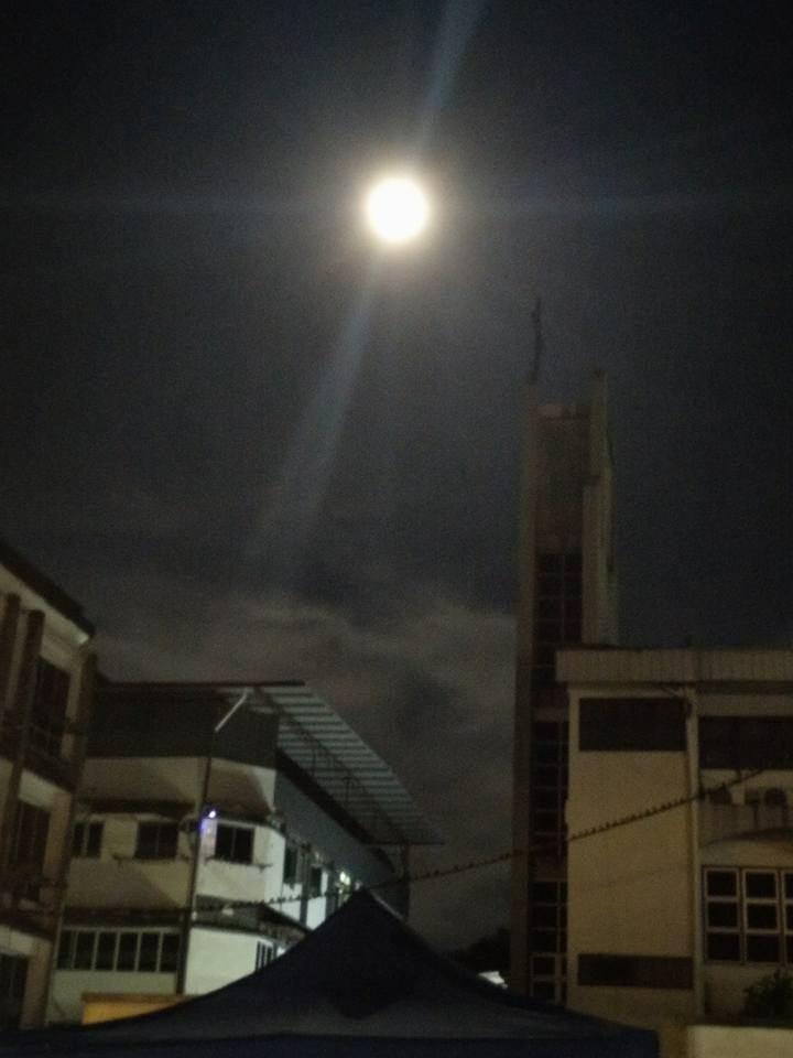 Fenomena supermoon di Selangor